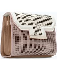 Zara Small Perforated Messenger Bag - Lyst