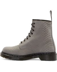 Dr. Martens - Grey Python 8_eye 1460 Boots - Lyst