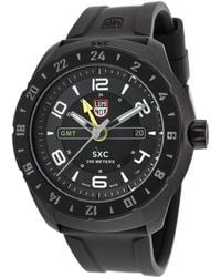 Luminox - Men's Sxc 5020 Space Series Gmt Black Silicone And Dial - Lyst