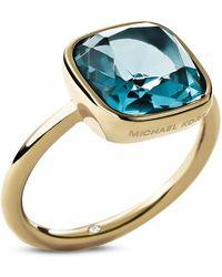 Michael Kors Cushion Stone Ring - Lyst
