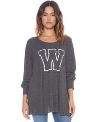 Wildfox Simply Sporty Long Sleeve - Lyst