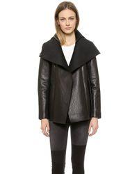 VEDA - Commune Leather Coat - Black - Lyst