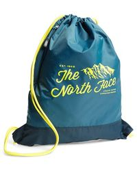 The North Face Men'S 'Sack Pack' Drawstring Bag - Blue - Lyst