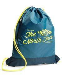 The North Face Men'S 'Sack Pack' Drawstring Bag - Blue - Lyst