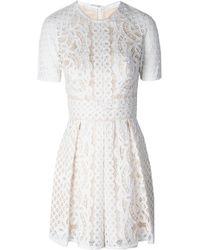 Lover Poppy Skating Dress White floral - Lyst