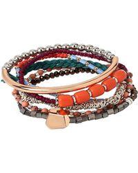 Kenneth Cole - Beaded Stretch Bracelet Set - Lyst