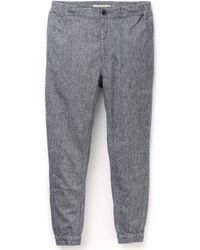 Shades Of Grey By Micah Cohen Blue Woven Joggers - Lyst