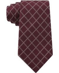 DKNY Silk Graphic Check Tie - Lyst