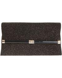 Diane Von Furstenberg Envelope Clutch Diamond Dust Leather - Lyst