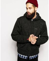 Schott Nyc Cardigan With Fleece Lined Hood - Lyst