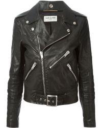 Saint Laurent Classic Biker Jacket - Lyst