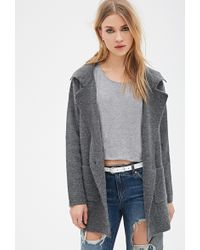Forever 21 Collared Crossover Sweater Coat - Lyst