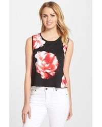 Vince Camuto Women'S 'Floral Blooms' Sleeveless Shell - Lyst
