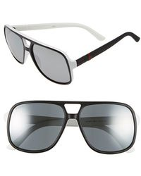 Gucci | Logo Temple 59mm Aviator Sunglasses | Lyst