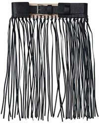 By Malene Birger Sunda Black Fringe Waist Belt - Lyst