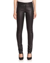 Helmut Lang | Five-pocket Leather Pants | Lyst