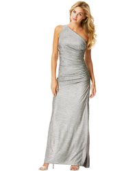 Laundry By Shelli Segal Metallic One Shoulder Gown - Lyst