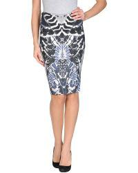 McQ by Alexander McQueen Knee Length Skirt multicolor - Lyst