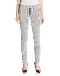 Textile Elizabeth and James Cooper Skinny Stripe Jeans black - Lyst