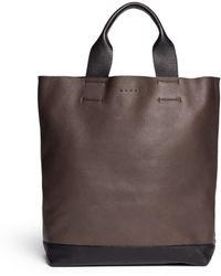Marni Colourblock Leather Tote - Lyst