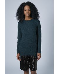 TOPSHOP - Stretchy Zip Back Sweat - Lyst