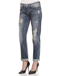 7 For All Mankind Josefina Destroyed Vintage Denim Jeans - Lyst