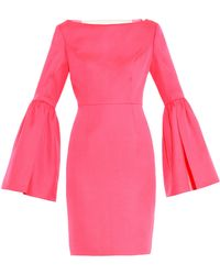 Honor Virgin-wool and Silk-blend Dress - Lyst