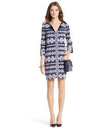 Diane von Furstenberg Rose Silk Jersey Tunic Dress - Lyst