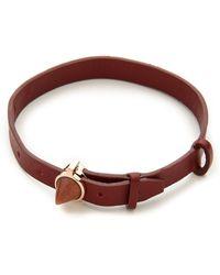 Eddie Borgo Inlaid Cone Leather Bracelet Rose Gold - Lyst