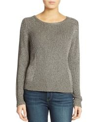 Eileen Fisher Rye Mixed Stitch Foiled Sweater - Lyst