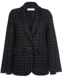 Sonia Rykiel Fringed Tweed Cape Jacket - Lyst