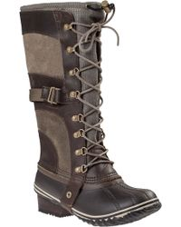 Sorel Conquest Carly Tall Boot Brown Leather brown - Lyst