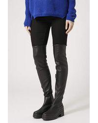Topshop Danger High Leg Boots - Lyst