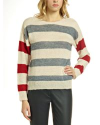 Patrizia Pepe Mohair-blend Printed Top with Long Sleeves - Lyst