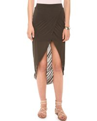 Bella Luxx - Gathered Back Tulip Skirt - Lyst