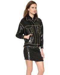 Versace Sequin Jacket Black - Lyst