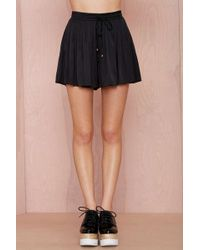 Nasty Gal Tiny Dancer Pleated Shorts - Lyst