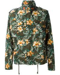 Off-white Floral Print Harrington Jacket - Lyst