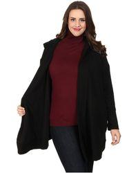 DKNY Plus Size Luxe Hooded Cozy Coat - Lyst