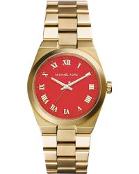 Michael Kors Brooks Goldtoned Stainless Steel Watch Gold - Lyst