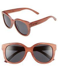 Proof - 'ivory Wood' 50mm Polarized Sunglasses - Mahogany/ Polarized Lens - Lyst