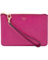 Fossil Sydney Leather Small Wristlet Pouch purple - Lyst