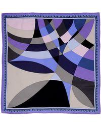 Emilio Pucci Square Scarf blue - Lyst