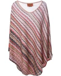 M Missoni Cape Sweater - Lyst