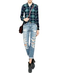 Current/Elliott The Fling Distressed Jeans - Lyst