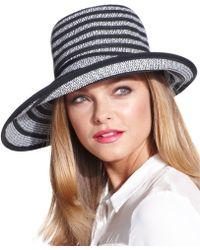 BCBGMAXAZRIA - Exaggerated Stripe Floppy Hat - Lyst