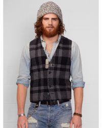 Denim & Supply Ralph Lauren Plaid Wool-blend Vest - Lyst