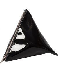 Junya Watanabe 3D Triangular Zipped Pouch Black black - Lyst