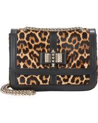 Christian Louboutin Haircalf Small Sweety Charity Shoulder Bag - Lyst