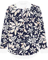 Diane von Furstenberg Dean Printed Cotton-Poplin Shirt - Lyst